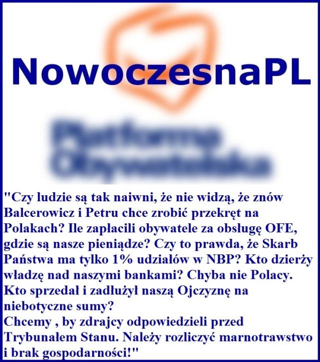 nowoczesna.pl program polityczny