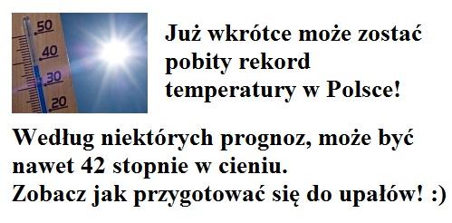 sposoby na upały w Polsce