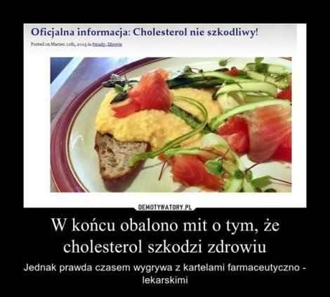 wysoki cholesterol