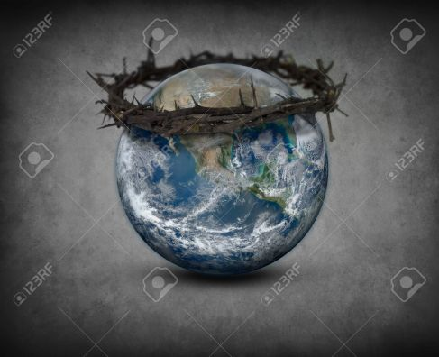 18839042-Crown-of-thorns-on-Earth-Stock-Photo-world