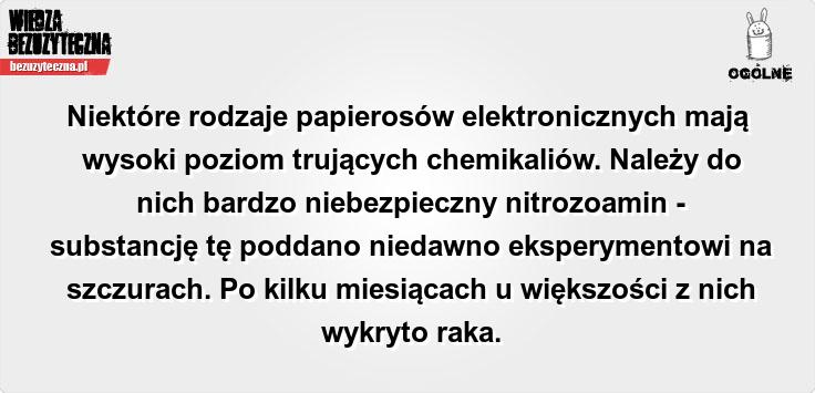 E-papierosy: na pewno bezpieczne? Tego nie mówi sięludziom..